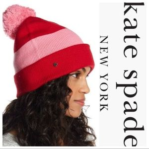 Kate Spade ♠️ colorblock beanie hat